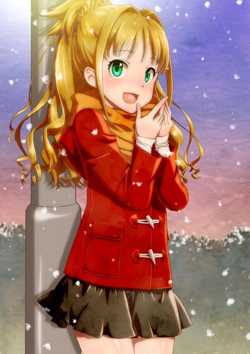 二次 非エロ 萌え 美少女風景 季節 冬 冬服 マフラークリスマス サンタクロース 雪だるま 雪 雪景色 雪の結晶 壁紙 二次非エロ画像 yuki2015111538