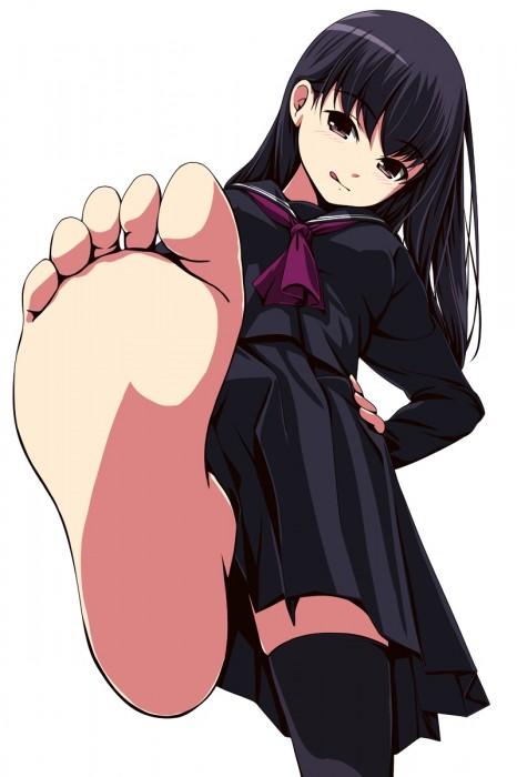 二次 エロ フェチ 萌え 足裏 生足 パンスト タイツ 靴下 ソックス 脚 爪先 つま先 二次エロ画像 ashiura2015121602