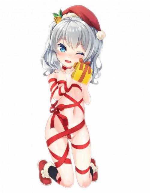 二次 エロ 萌え フェチ 私がプレゼント バレンタイン クリスマス チョコ 裸リボン 裸の女の子が全身にリボンを巻いている姿 誘惑 拘束 緊縛 赤面 照れてる 恥ずかしがってる 表情 二次エロ画像 hadakaribon2015122422