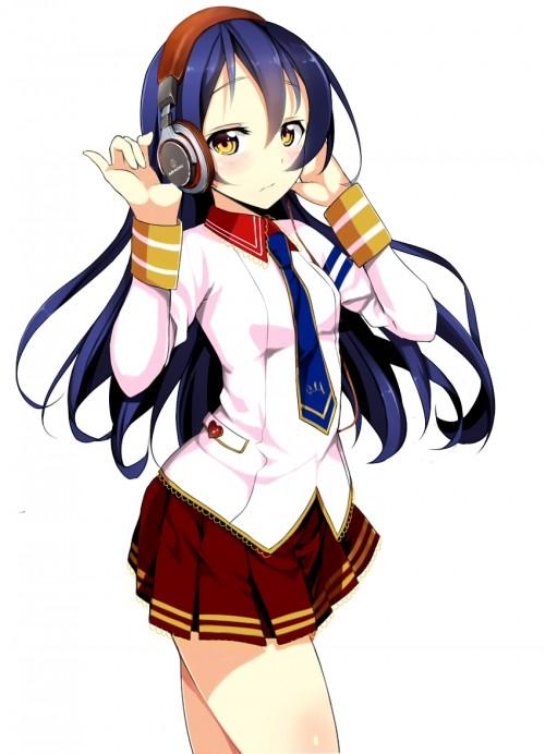 二次 非エロ 萌え ヘッドフォン ヘッドホン 音楽 ヘッドセット エロ 楽器 耳当て 二次微エロ画像 headphone2015121529