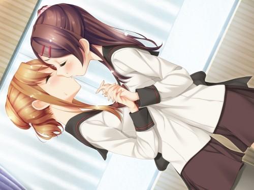 二次 エロ 萌え フェチ キス セックス カップル 百合 レズ 二人は幸せなキスをして終了 二次エロ画像 kiss2015122405