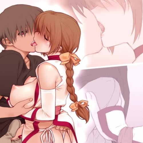 二次 エロ 萌え フェチ キス セックス カップル 百合 レズ 二人は幸せなキスをして終了 二次エロ画像 kiss2015122409