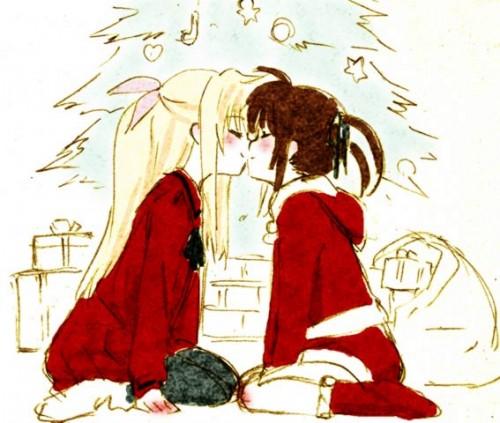 二次 エロ 萌え フェチ キス セックス カップル 百合 レズ 二人は幸せなキスをして終了 二次エロ画像 kiss2015122410