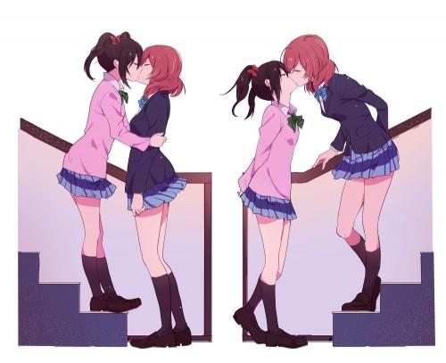二次 エロ 萌え フェチ キス セックス カップル 百合 レズ 二人は幸せなキスをして終了 二次エロ画像 kiss2015122415