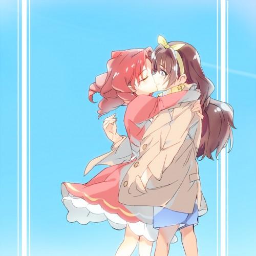 二次 エロ 萌え フェチ キス セックス カップル 百合 レズ 二人は幸せなキスをして終了 二次エロ画像 kiss2015122424