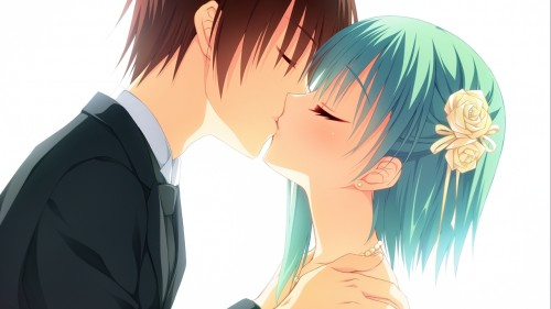 二次 エロ 萌え フェチ キス セックス カップル 百合 レズ 二人は幸せなキスをして終了 二次エロ画像 kiss2015122425