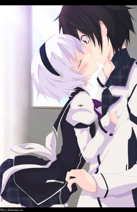 二次 エロ 萌え フェチ キス セックス カップル 百合 レズ 二人は幸せなキスをして終了 二次エロ画像 kiss2015122435