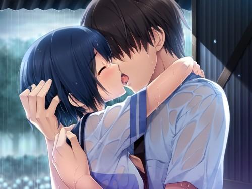 二次 エロ 萌え フェチ キス セックス カップル 百合 レズ 二人は幸せなキスをして終了 二次エロ画像 kiss2015122436