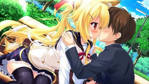 二次 エロ 萌え フェチ キス セックス カップル 百合 レズ 二人は幸せなキスをして終了 二次エロ画像 kiss2015122437