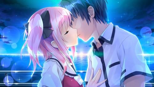二次 エロ 萌え フェチ キス セックス カップル 百合 レズ 二人は幸せなキスをして終了 二次エロ画像 kiss2015122441