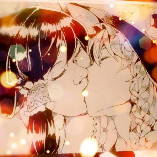 二次 エロ 萌え フェチ キス セックス カップル 百合 レズ 二人は幸せなキスをして終了 二次エロ画像 kiss2015122450