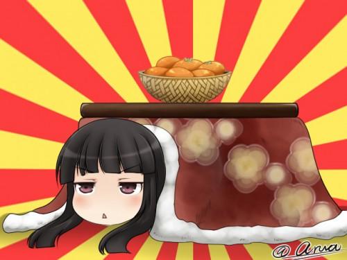 二次 萌え フェチ エロ 冬 コタツ みかん 寝ている 寝顔 和室 食事風景 SDキャラ チビキャラ 正月 炬燵 二次エロ画像 kotatsu2015120226