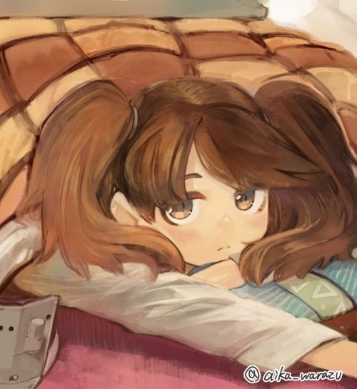 二次 萌え フェチ エロ 冬 コタツ みかん 寝ている 寝顔 和室 食事風景 SDキャラ チビキャラ 正月 炬燵 二次エロ画像 kotatsu2015120248