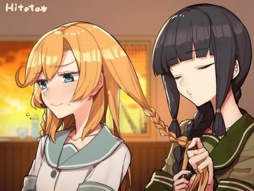 二次 萌え エロ フェチ 髪型 三つ編み おさげ 文学少女 二次エロ画像 mituami2015121018