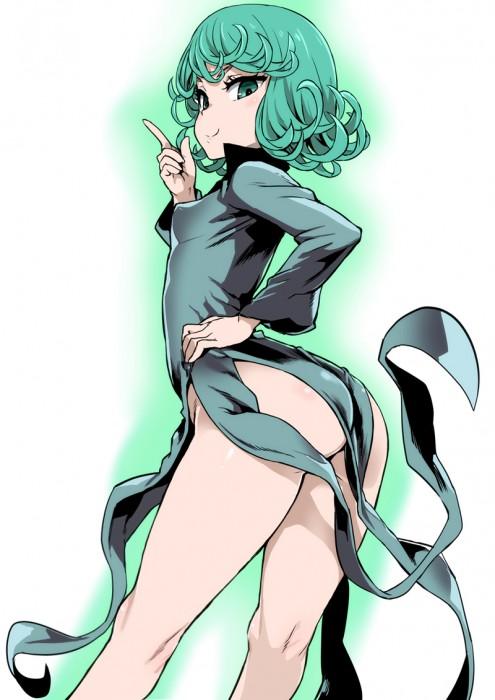 二次 エロ 萌え フェチ アニメ 漫画 ワンパンマン 戦慄のタツマキ 緑髪 黒ドレス スリット 天然パーマ 28歳のロリババア はいてない ノーパン 二次エロ画像 tatsumaki2015121123