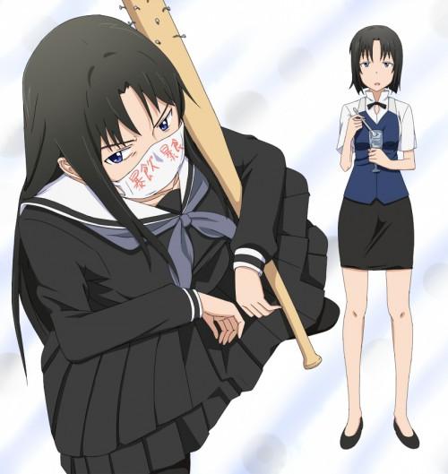 二次 非エロ 萌え フェチ スポーツ少女 野球 帽子 バット 武装少女 釘バット 二次非エロ画像 bat2016010415