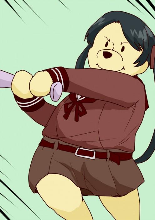 二次 非エロ 萌え フェチ スポーツ少女 野球 帽子 バット 武装少女 釘バット 二次非エロ画像 bat2016010448