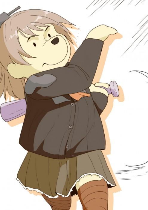 二次 非エロ 萌え フェチ スポーツ少女 野球 帽子 バット 武装少女 釘バット 二次非エロ画像 bat2016010449