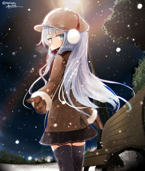 二次 エロ 萌え フェチ 冬 冬服 イヤーマフ マフラー コード 制服 二次エロ画像 earmuff2016011318