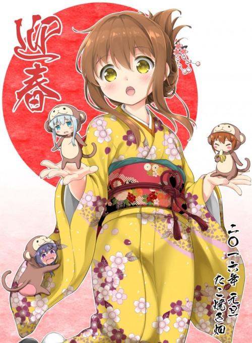 二次 萌え 非エロ フェチ 和服 着物 振袖 お正月 謹賀新年 二次微エロ画像 kimono10020160111002
