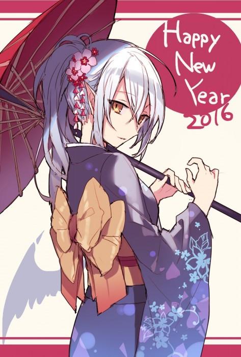 二次 萌え 非エロ フェチ 和服 着物 振袖 お正月 謹賀新年 二次微エロ画像 kimono10020160111007