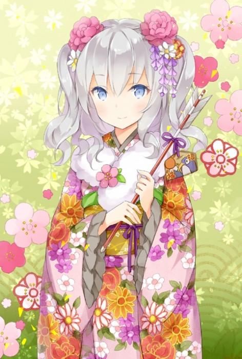 二次 萌え 非エロ フェチ 和服 着物 振袖 お正月 謹賀新年 二次微エロ画像 kimono10020160111024