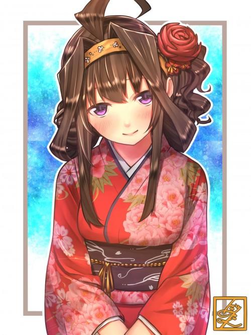 二次 萌え 非エロ フェチ 和服 着物 振袖 お正月 謹賀新年 二次微エロ画像 kimono10020160111033