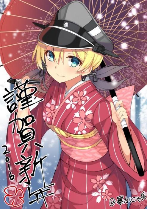 二次 萌え 非エロ フェチ 和服 着物 振袖 お正月 謹賀新年 二次微エロ画像 kimono10020160111034