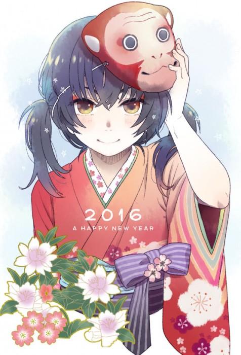 二次 萌え 非エロ フェチ 和服 着物 振袖 お正月 謹賀新年 二次微エロ画像 kimono10020160111036