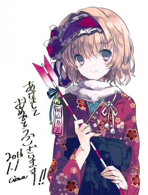 二次 萌え 非エロ フェチ 和服 着物 振袖 お正月 謹賀新年 二次微エロ画像 kimono10020160111037