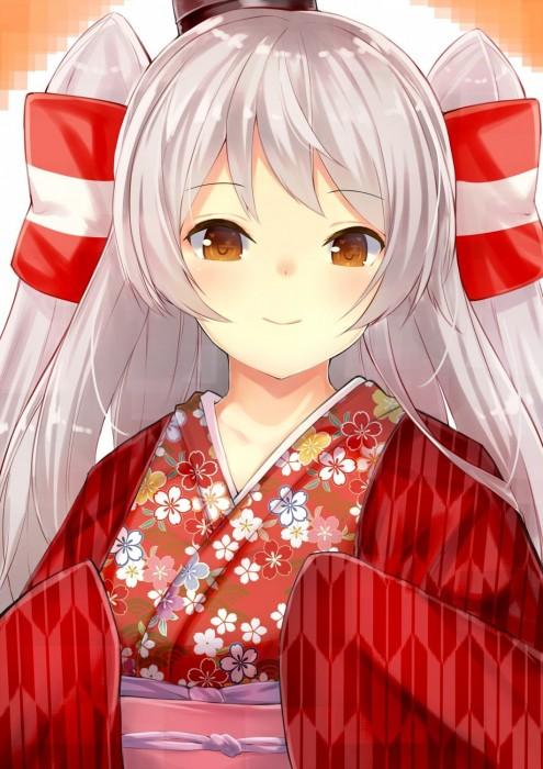 二次 萌え 非エロ フェチ 和服 着物 振袖 お正月 謹賀新年 二次微エロ画像 kimono10020160111049