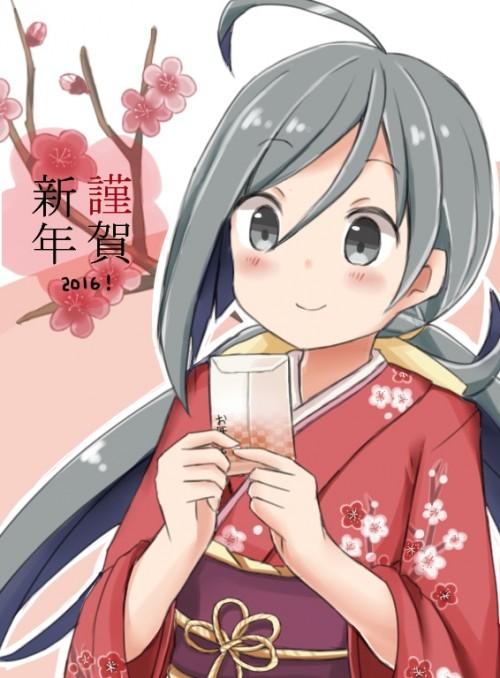 二次 萌え 非エロ フェチ 和服 着物 振袖 お正月 謹賀新年 二次微エロ画像 kimono10020160111050