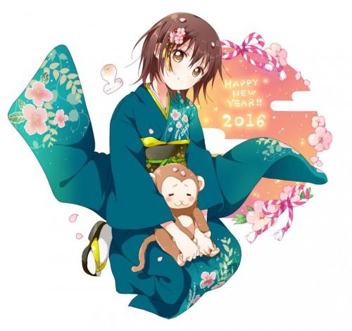 二次 萌え 非エロ フェチ 和服 着物 振袖 お正月 謹賀新年 二次微エロ画像 kimono10020160111054