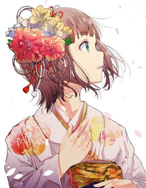 二次 萌え 非エロ フェチ 和服 着物 振袖 お正月 謹賀新年 二次微エロ画像 kimono10020160111059