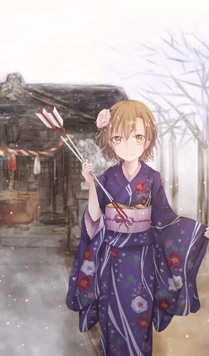 二次 萌え 非エロ フェチ 和服 着物 振袖 お正月 謹賀新年 二次微エロ画像 kimono10020160111061