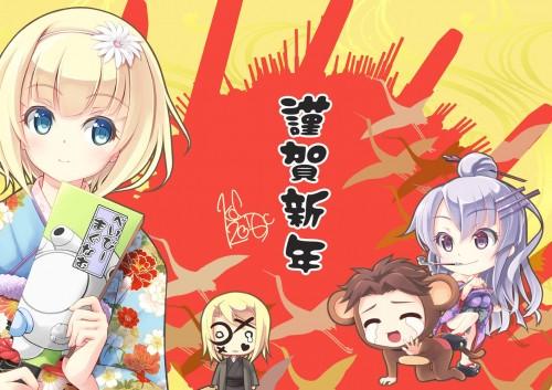 二次 萌え 非エロ フェチ 和服 着物 振袖 お正月 謹賀新年 二次微エロ画像 kimono10020160111076