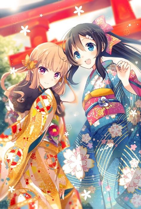 二次 萌え 非エロ フェチ 和服 着物 振袖 お正月 謹賀新年 二次微エロ画像 kimono10020160111086