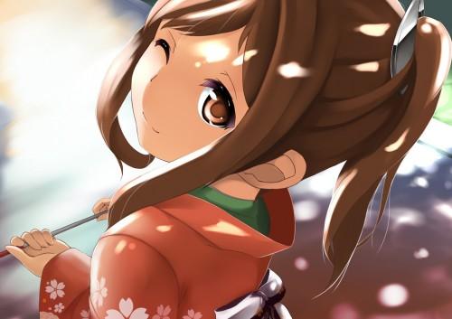 二次 萌え 非エロ フェチ 和服 着物 振袖 お正月 謹賀新年 二次微エロ画像 kimono10020160111087