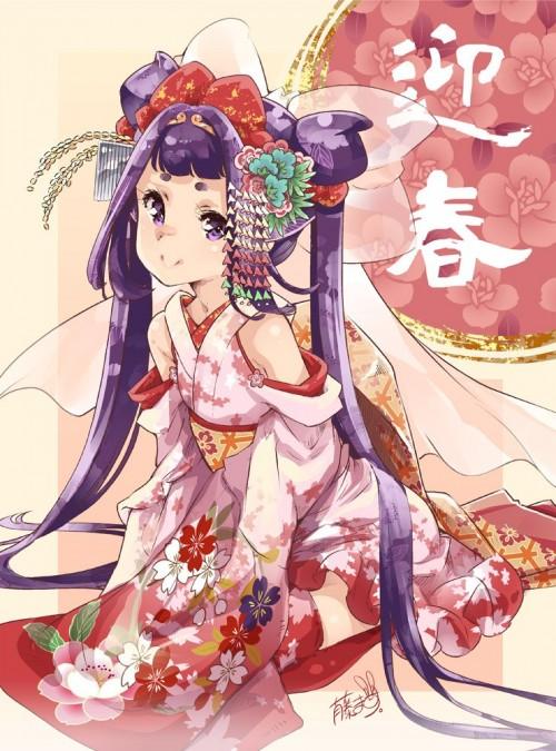 二次 萌え 非エロ フェチ 和服 着物 振袖 お正月 謹賀新年 二次微エロ画像 kimono10020160111088