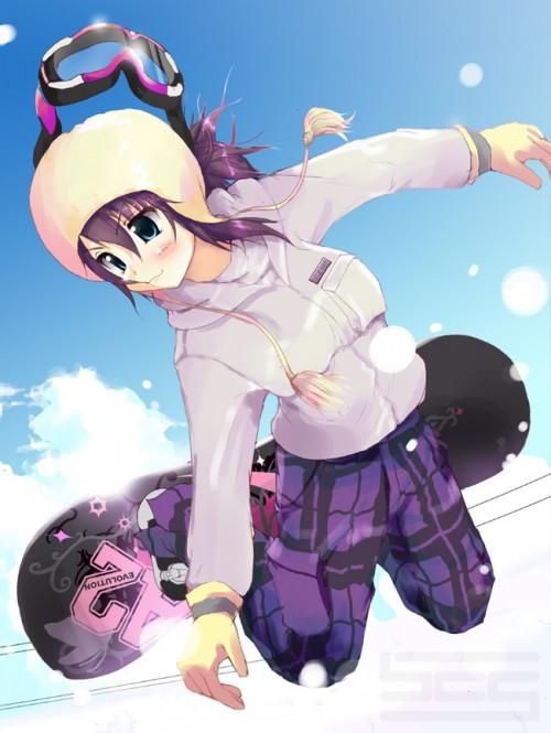 二次 非エロ 萌え 美少女風景 季節 冬 冬服 雪 雪山 スキー スノーボード スケート スキーウェア ウインタースポーツ 二次微エロ画像 wintersports2016012202