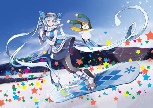 二次 非エロ 萌え 美少女風景 季節 冬 冬服 雪 雪山 スキー スノーボード スケート スキーウェア ウインタースポーツ 二次微エロ画像 wintersports2016012205