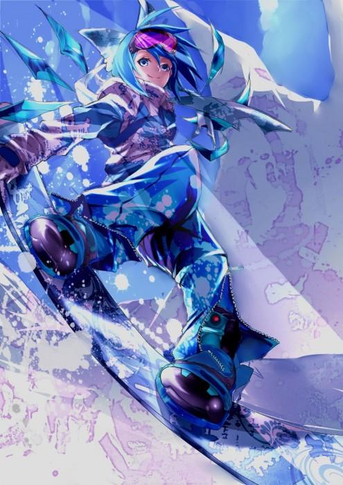 二次 非エロ 萌え 美少女風景 季節 冬 冬服 雪 雪山 スキー スノーボード スケート スキーウェア ウインタースポーツ 二次微エロ画像 wintersports2016012240