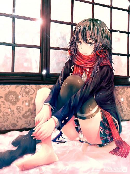 二次 エロ 萌え アニメ フェチ ラノベ やはり俺の青春ラブコメはまちがっている。 雪ノ下雪乃 はまち 俺ガイル 女子高校生 JK 黒髪 ニーソ 貧乳 毒舌 二次エロ画像 yukinoshitayukino2016010612