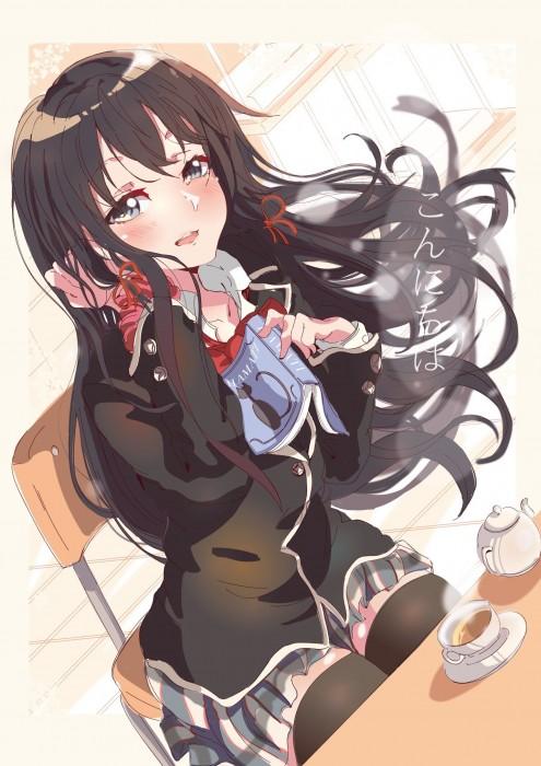 二次 エロ 萌え アニメ フェチ ラノベ やはり俺の青春ラブコメはまちがっている。 雪ノ下雪乃 はまち 俺ガイル 女子高校生 JK 黒髪 ニーソ 貧乳 毒舌 二次エロ画像 yukinoshitayukino2016010620