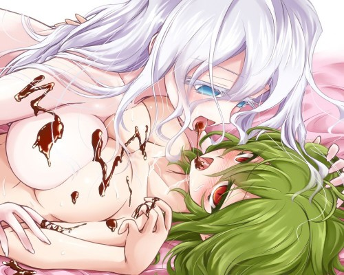 二次 エロ 萌え フェチ おっぱい 巨乳 百合 乳寄せ 抱き合ってる キス ベロチュー 乳首コリコリ 巨乳 貧乳 レズ 挟まれたいおっぱい 谷間が二つ 二次エロ画像 chichiawase2016022149