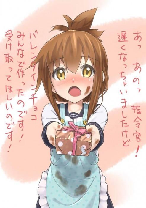二次 エロ 萌え フェチ バレンタイン チョコレート 裸リボン プレゼント 裸チョコ 赤面 照れてる 恥ずかしがってる 料理 表情 二次エロ画像 chocolate10020160214002