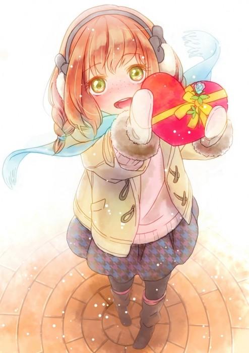 二次 エロ 萌え フェチ バレンタイン チョコレート 裸リボン プレゼント 裸チョコ 赤面 照れてる 恥ずかしがってる 料理 表情 二次エロ画像 chocolate10020160214007