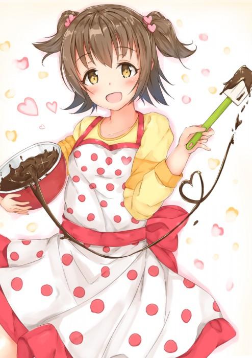 二次 エロ 萌え フェチ バレンタイン チョコレート 裸リボン プレゼント 裸チョコ 赤面 照れてる 恥ずかしがってる 料理 表情 二次エロ画像 chocolate10020160214010