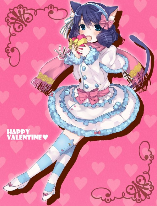 二次 エロ 萌え フェチ バレンタイン チョコレート 裸リボン プレゼント 裸チョコ 赤面 照れてる 恥ずかしがってる 料理 表情 二次エロ画像 chocolate10020160214015