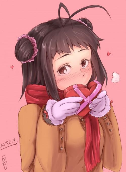 二次 エロ 萌え フェチ バレンタイン チョコレート 裸リボン プレゼント 裸チョコ 赤面 照れてる 恥ずかしがってる 料理 表情 二次エロ画像 chocolate10020160214036